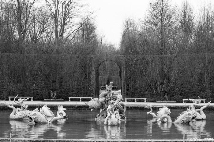 le bassin du dragon, avant d'arriver au bassin de Neptune