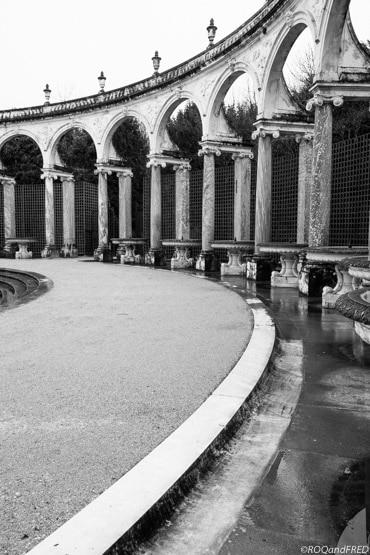 les arches du bosquet de la colonnade